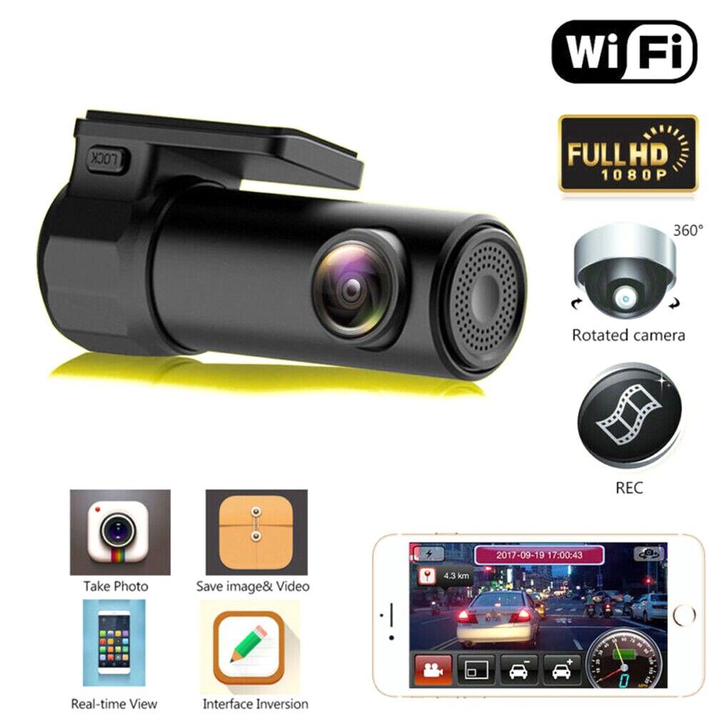Mini HD 1080P WIFI Dash Cam Car DVR Camera Video Recorder Wide Angle G-sensor Motion Detection TD326