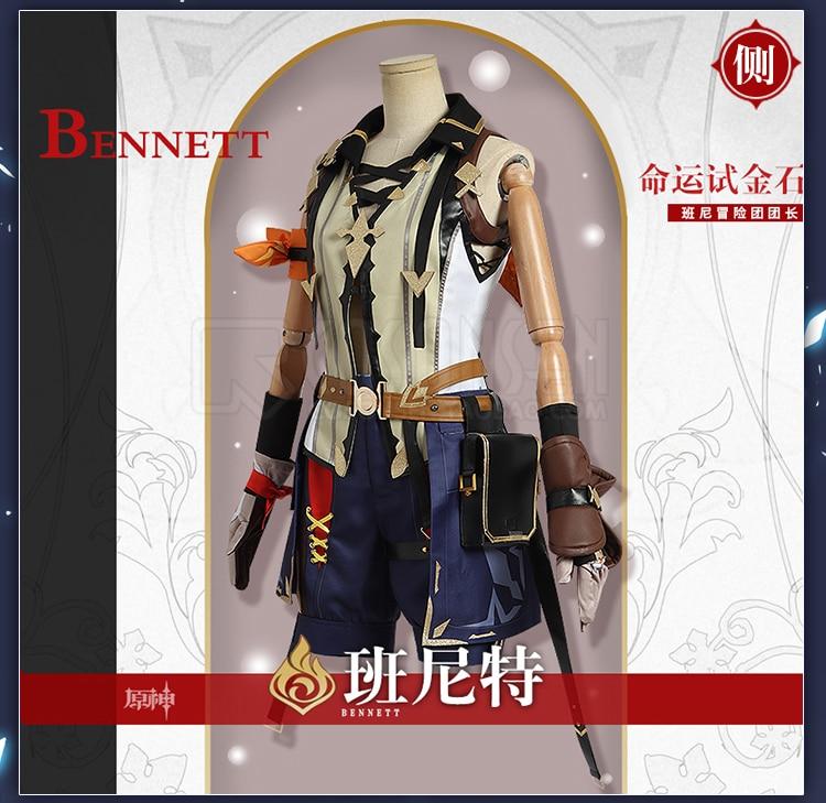[На заказ] аниме геншин Дарт Беннетт, игровой костюм, красивая боевая униформа, костюм для косплея, мужской костюм на Хэллоуин, бесплатная до...