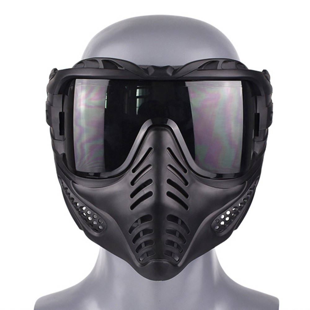 Tactical Outdoor Lens Mask Full Face Breathable Protective CS Hunting Military Army Airsoft Protection Masks Paintball Accessory