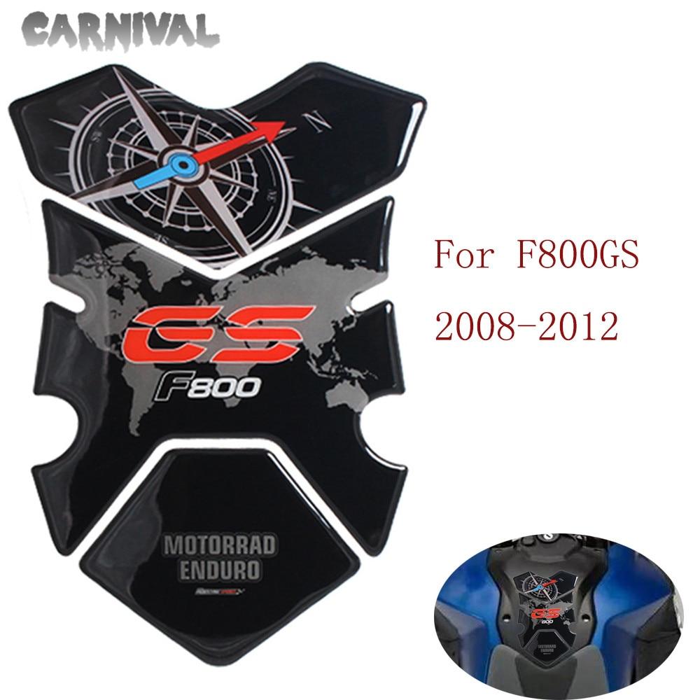 Para BMW F800GS F800 GS 3D motocicleta protección de tanque de combustible pad pegatina de tanque de combustible 2008-2012 resina de poliuretano