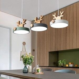 New Nordic Pendant Lights LED Modern Kitchen Lighting Living Bedroom Decor Dining Fixture Ceiling Hanging Antler Suspension Lamp