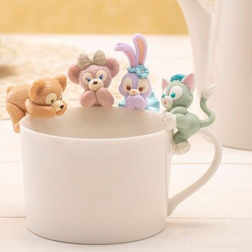 Desenhos animados bonito urso duffy shelliemay stellalou gelatoni gato figura coleção kit garagem pingente brinquedo boneca acessórios