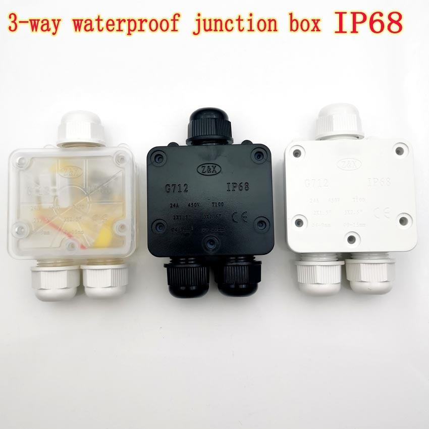 3-Way 24A 450 فولت في الهواء الطلق مقاوم للماء IP68 كابلات الموصلات صندوق وصلات العلبة الكهربائية مناسبة ل كابل ضياء 4-9 مللي متر