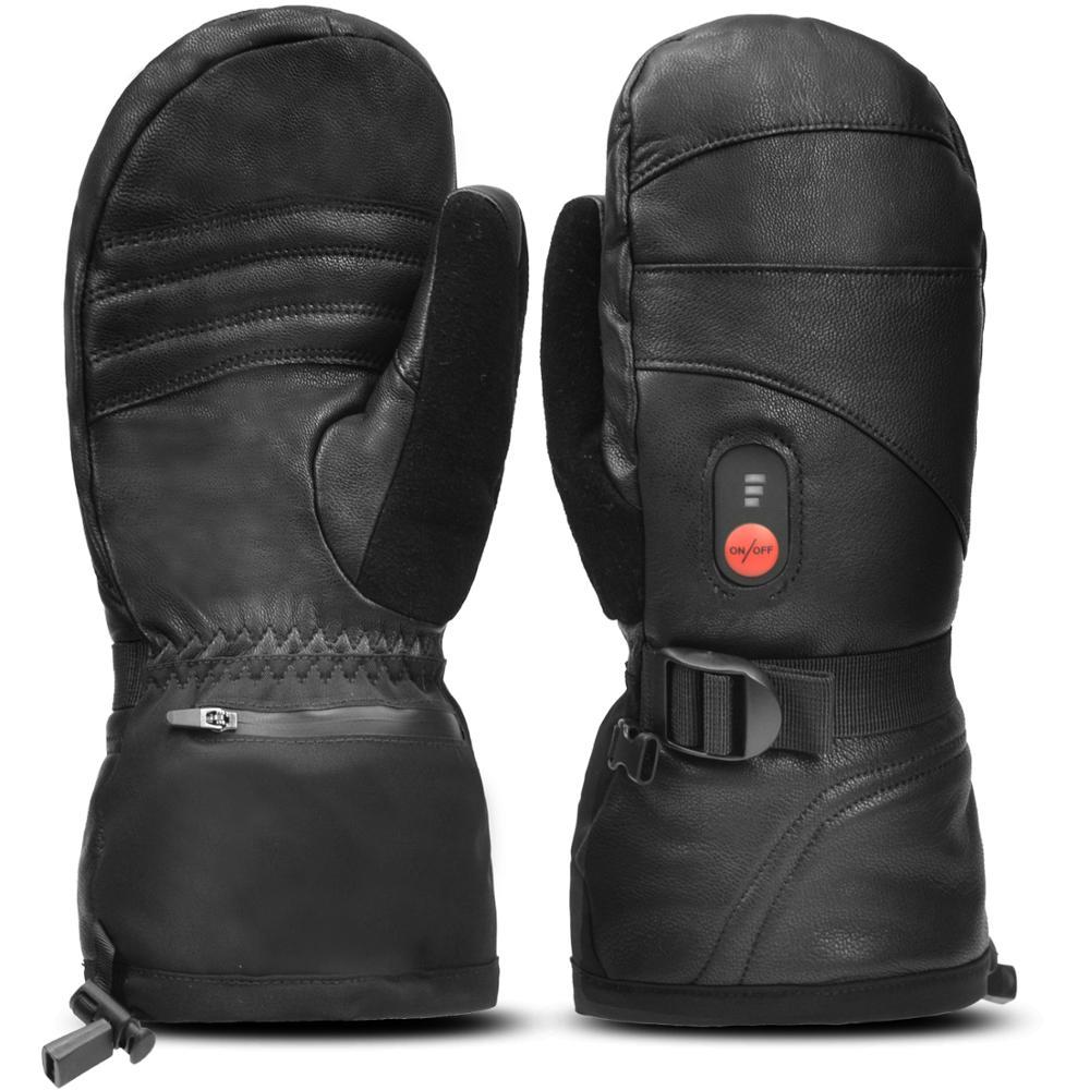Unisex Far Infrared Heated Mitten Gloves Carbon Fiber Heating 3 Shift Temperatures Battery Heated Mitten Gloves S38
