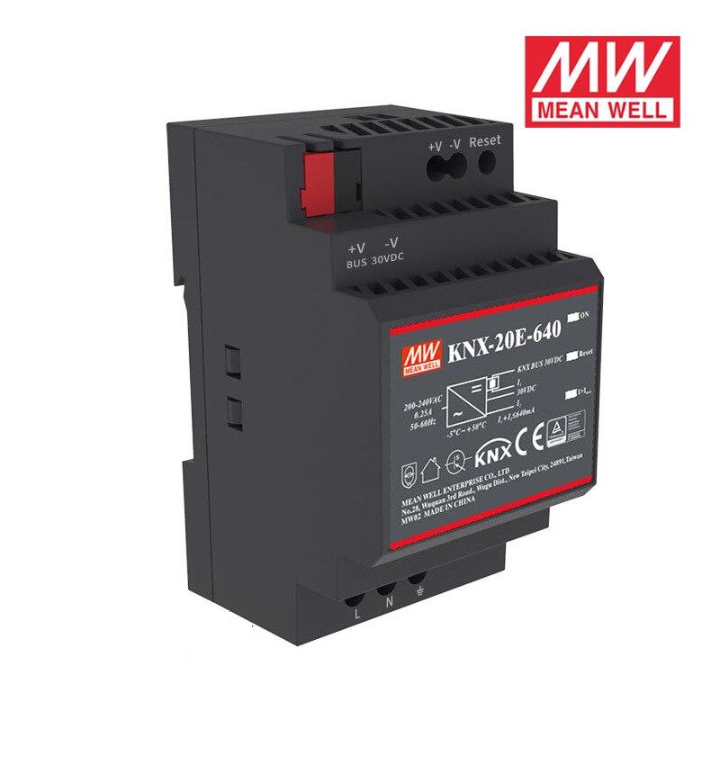 Ofertas Especiales MEAN WELL KNX-20E-640 19,2 W 30V 640mA meanwell KNX-20E 180-264VAC fuente de alimentación de conmutación
