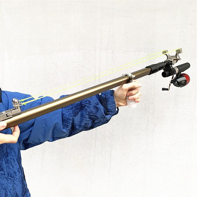 عالية الطاقة في الهواء الطلق قابل للطي طويلة قضيب الدقة اطلاق النار مقلاع اللاتكس شريط مطاطي مقلاع صيد الأطفال لعبة