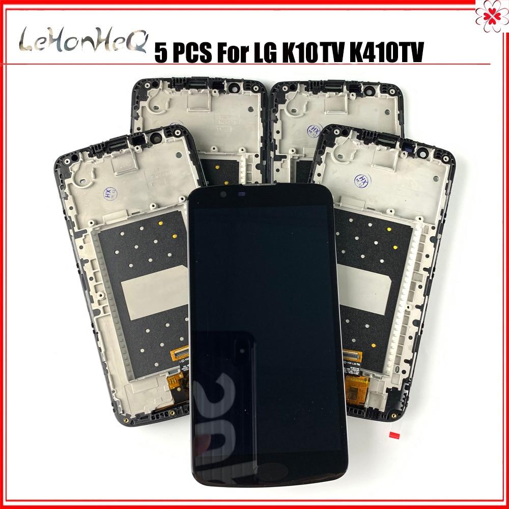 5 جزء/الوحدة LCD ل LG K10TV عرض تعمل باللمس الجمعية محول الأرقام مع الإطار ل LG K10 التلفزيون K410TV K430TV LCD