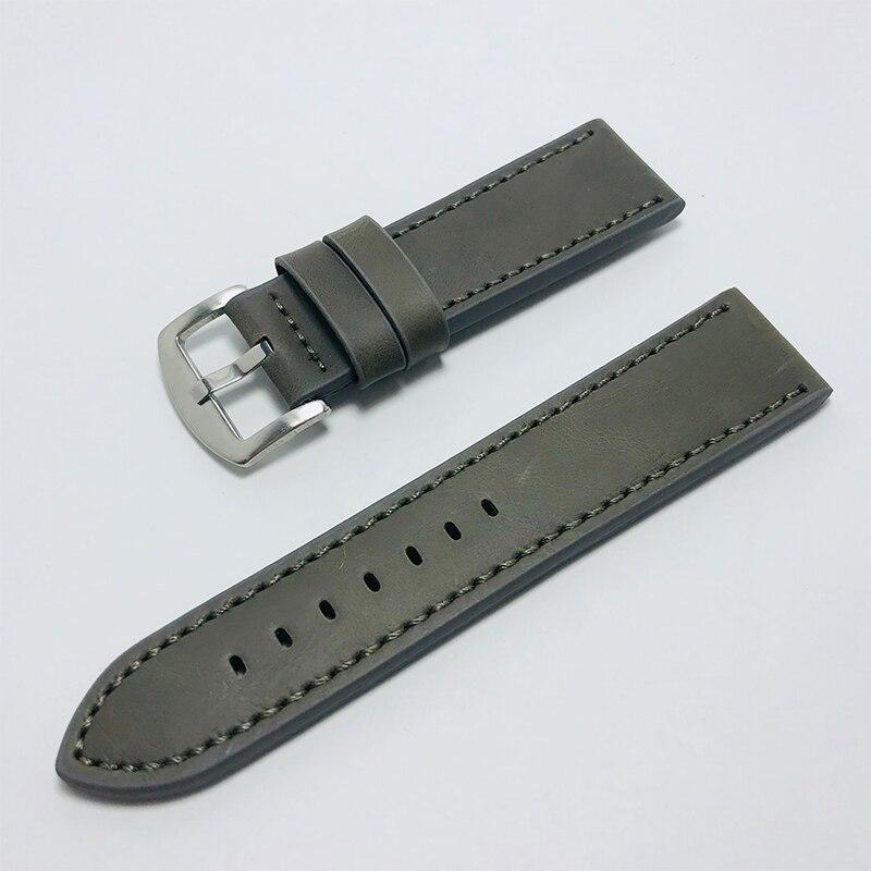 16mm 18mm 20mm 22mm pulseira de couro genuíno pulseira de relógio de banda de relógio acessórios femininos masculino café faixa de cinto preto
