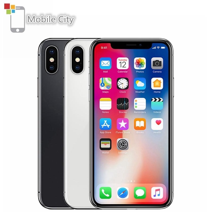 Разблокированный Apple iPhone X, 5,8-дюймовый экран, Apple A11, 4G LTE, 64 ГБ/256 Гб ПЗУ, 3 Гб ОЗУ, двойная задняя камера 12 МП, распознавание лица, мобильный телеф...