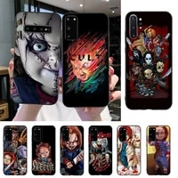 yndfcnb clown soft black phone case for samsung s20 s10 s8 s9 plus s7 s6 s5 note10 note9 s10lite