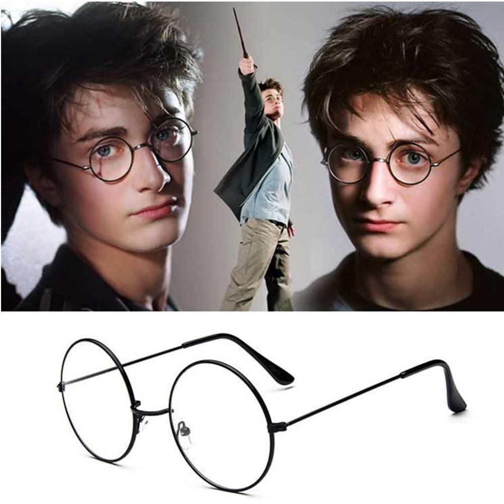 NONOR Fashion Harry Eyewear Eyeglasses Black Small Round Vintage Retro Metal Frame Clear Lens Glasse