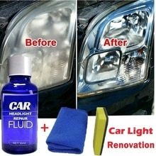 Líquido de reparación de faros de coche, Kit de líquido de reparación de faros, antiarañazos y mantenimiento, revestimiento de espejo retrovisor de 30ML