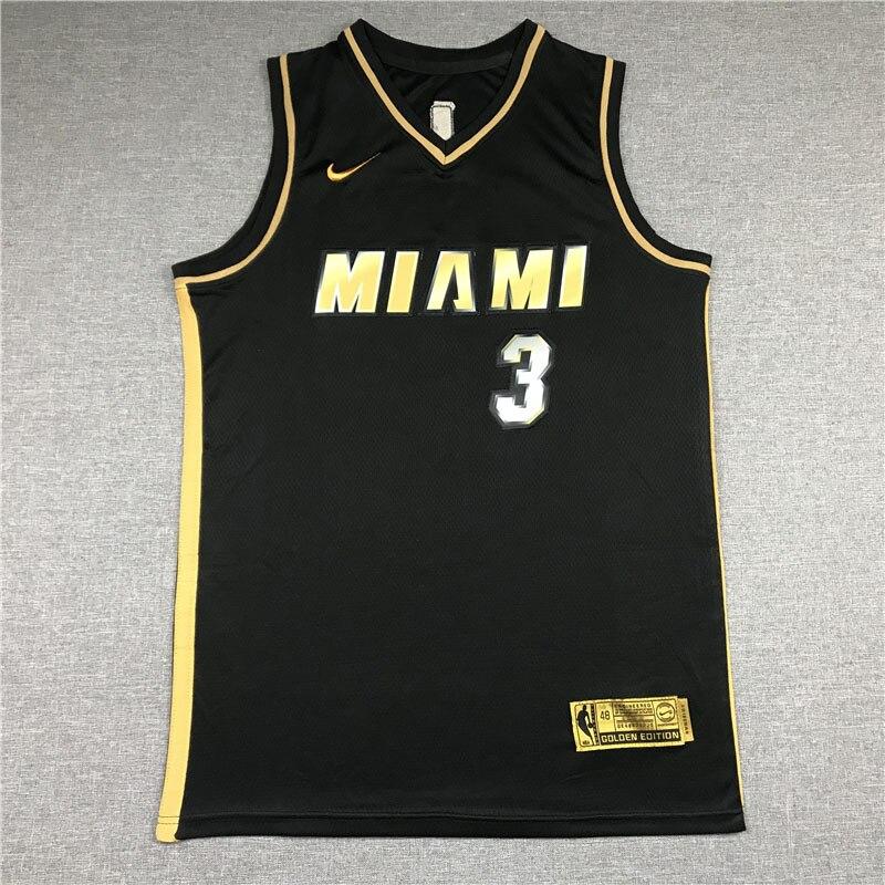 Camiseta de la NBA de Miami Heat 3, camiseta de secado rápido...