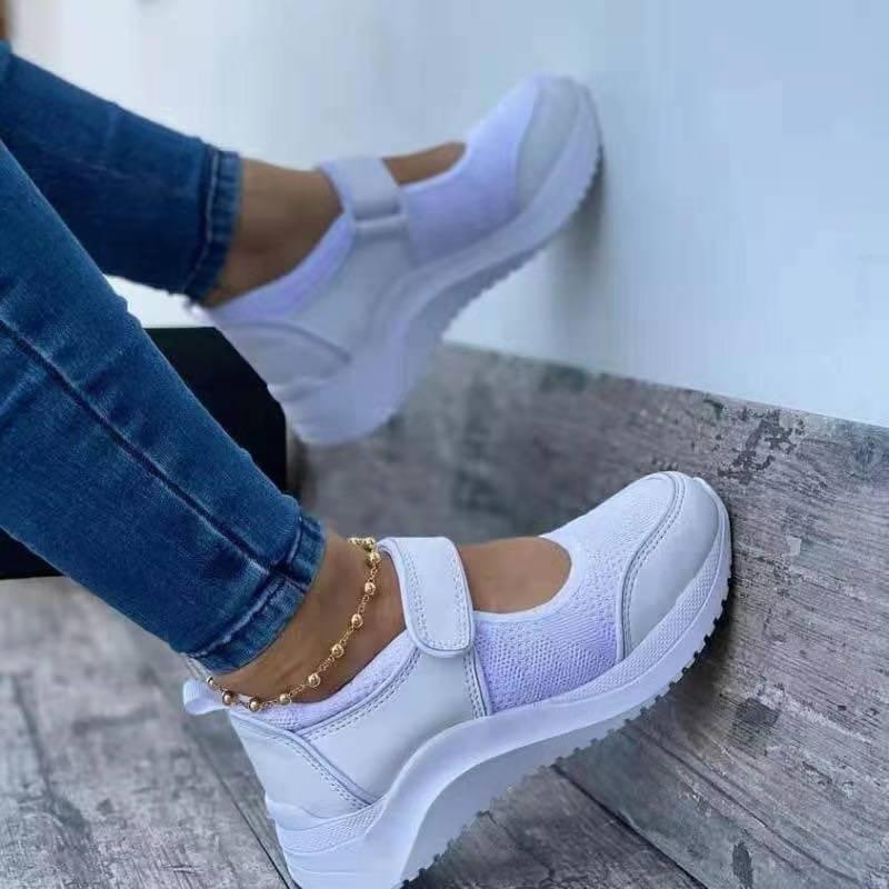 Summer Women Casual Sneakers Ladies Sport Shoes Breathable Mesh Platform Female Vulcanize Shoes Non