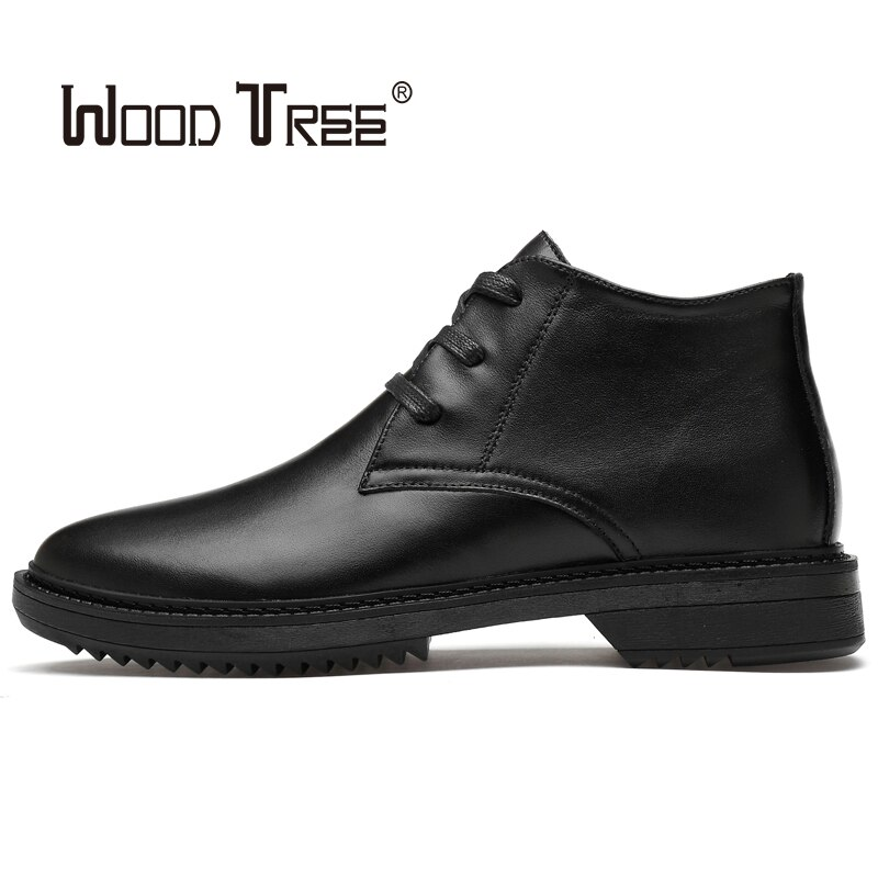 Woodtree 2020 preto vestido de negócios sapatos de couro oxford sapatos masculinos casuais respirável sapatos de escritório de casamento