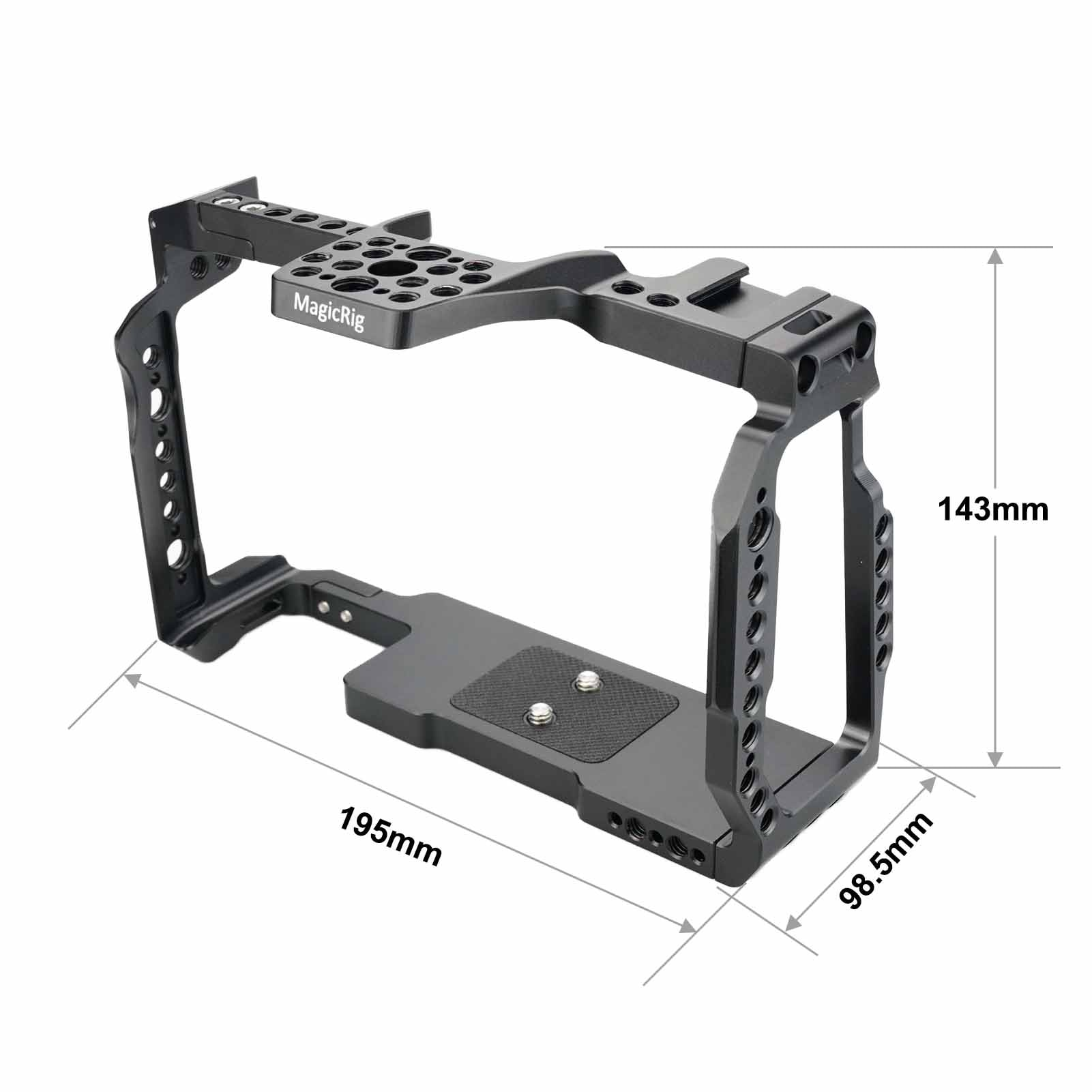 MAGICRIG Full Cage With ARRI Locating Hole & Cold Shoe for Blackmagic Design Pocket Cinema Camera 6K Pro(Bmpcc 6k Pro) enlarge