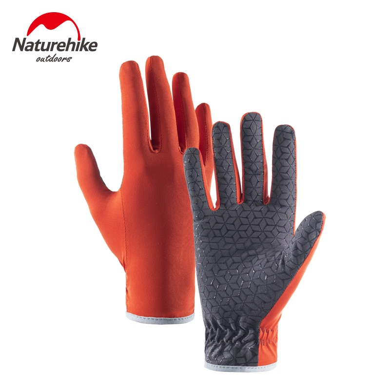Naturehike Outdoor Touch Screen Non-Slip Breathable Full Finger Gloves Rock Climbing Hiking Camholic Sunscreen Anti-UV Car Glove
