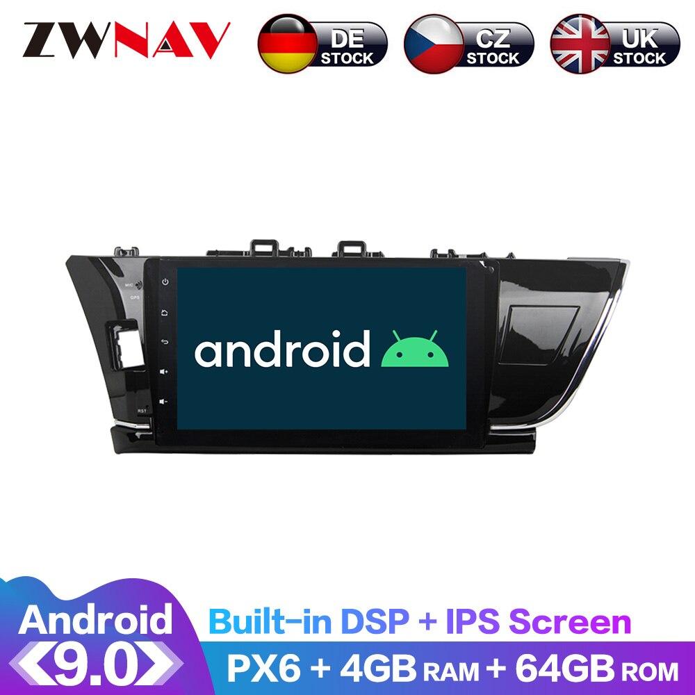 Pantalla Android 9 IPS PX6 DSP para Toyota Corolla 2012 2013 2014 - 2016 reproductor de DVD sin coche GPS reproductor Multimedia Radio Audio estéreo