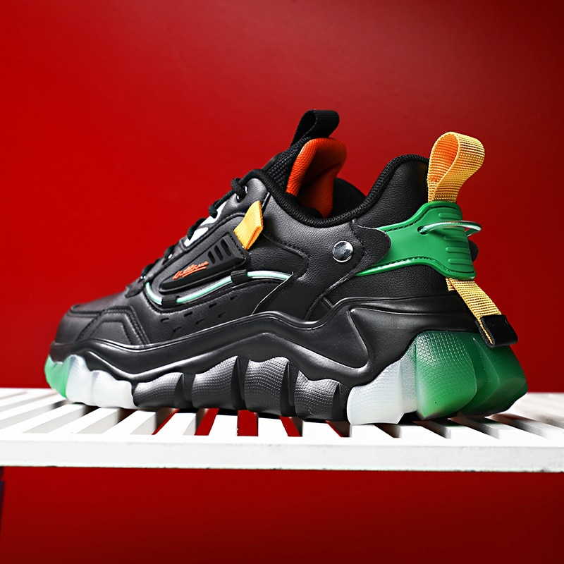 Color mixto hombres corriendo tendencia zapatos de encaje Casual transpirable zapatos deportivos...