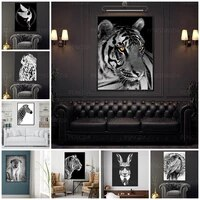 hd prints animal canvas painting wall art zebra swan crane tiger poster modern home decoration for living room modular pictures