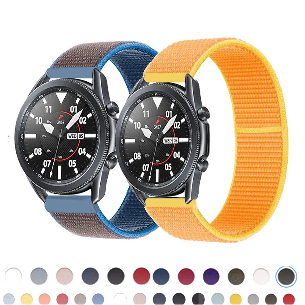 22mm reloj banda de s3 frontera Correa Galaxy ver 3 45mm 41mm activo 2 44mm 40mm Nylon huawei watch gt2e/2 Correa 20mm