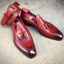 Men Pu Leather Shoes Casual Shoes Dress Shoes Brogue Shoes Spring Ankle Boots Vintage Classic Male C