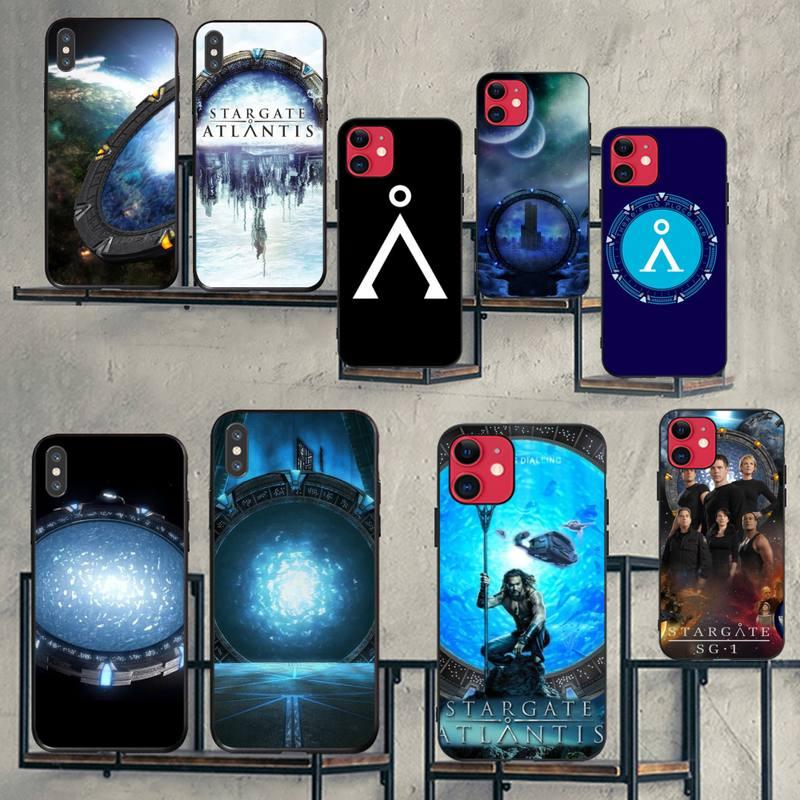 CUTEWANAN Stargate Atlantis am negro suave del teléfono de Shell caso Capa para iPhone 11 pro XS MAX 8 7 6 6S Plus X 5S SE XR caso