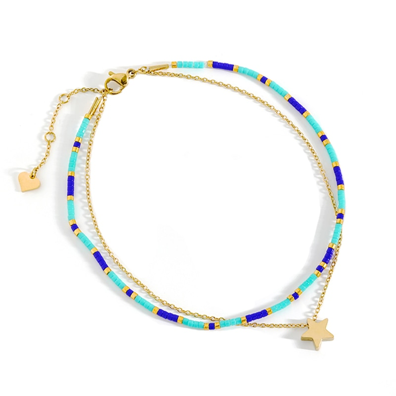 Stainless Steel Anklets Accessories Boho Style Anklet Chain Gifts For Women Foot Ankle Bracelet Summ