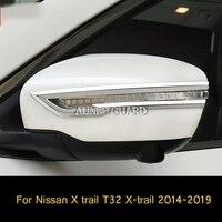 rear mirror anti scratch strip rearview mirror trim strip car accessories for nissan x trail t32 x trail 2014 2019