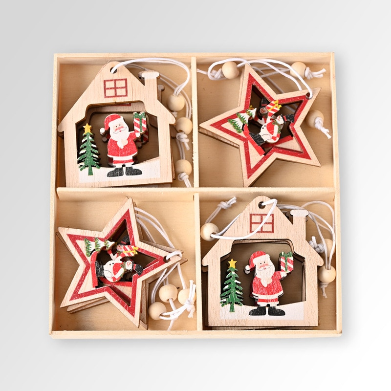 Фото - Pack of 12 Santa Claus Wooden Pendants Christmas Decoration Christmas Tree Ornaments 2021 Home New Year Christmas Decorations fennell clare santa s 12 days of christmas