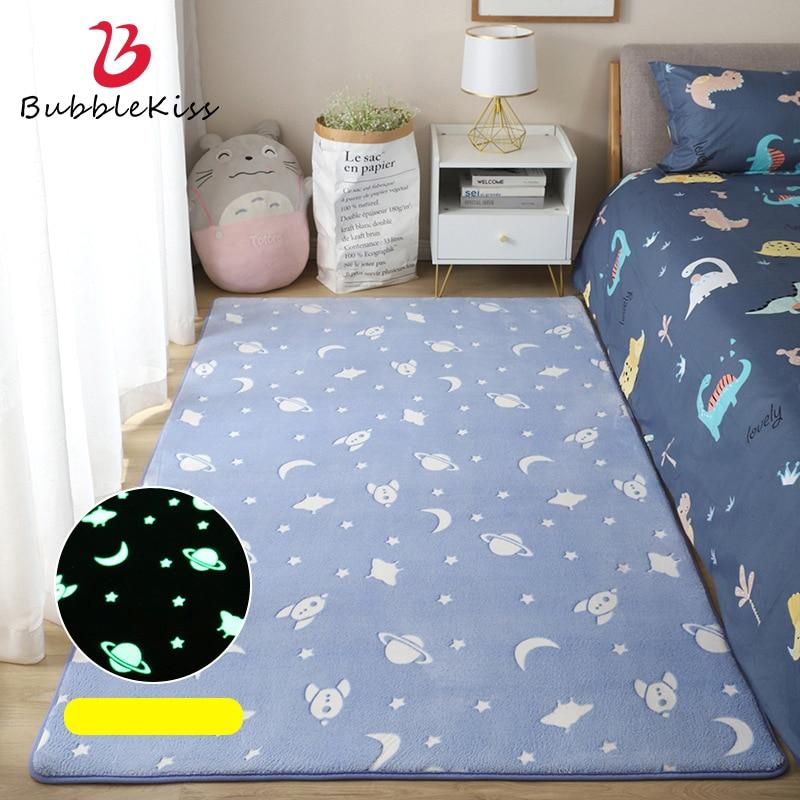 فقاعة قبلة مضيئة السجاد لغرفة المعيشة سميكة أفخم البساط سرير أطفال غرفة Fluffy الكلمة حصيرة ديكور المنزل السرير ديناصور السجاد