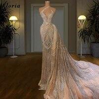 haute dubai mermaid long prom dresses middle east beading plus size saudi arabia party gowns for weddings 2021 robe de soiree