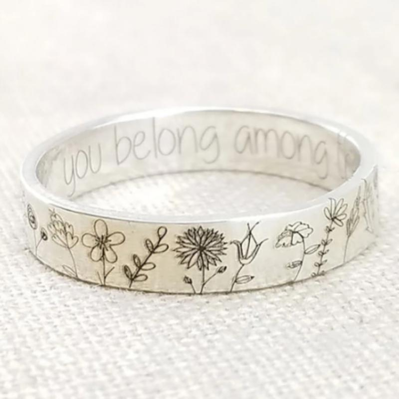 Богемный стиль простое растение кольцо модные повседневные женские кольца