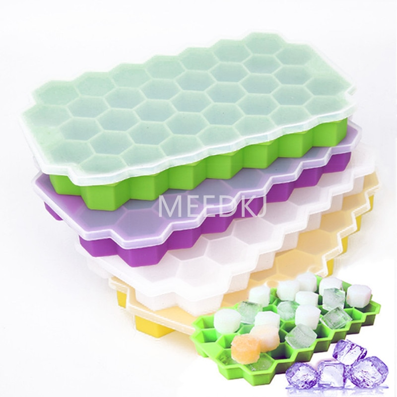 37 ice plates, cubes, silica gel molds, creative DIY honeycomb shape, ice cube ray molds, ice cream party, cold drink bar tools
