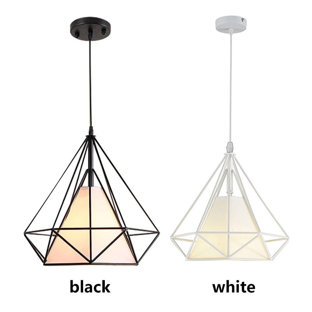 Подвесная лампа E27 для спальни, романтический железный подвесной светильник, подвесной светильник, скандинавский черный минималистичный подвесной светильник для гостиной