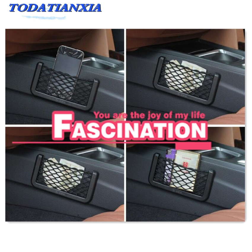 2021 Car Pocket Mesh Phone Net Pocket Holder For astra g mazda 6 gh mitsubishi l200 nissan kicks opel mokka golf 5 interior