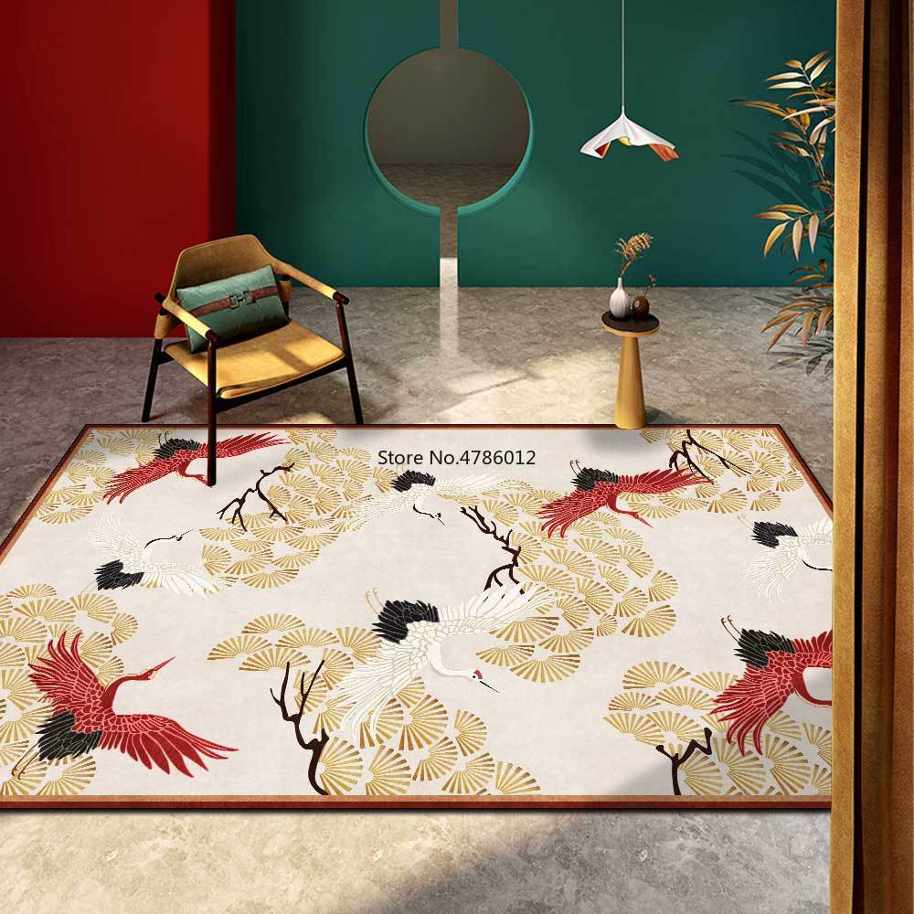 سجادة صينية فاخرة على شكل رافعة ، شجرة صنوبر حمراء وذهبية ، لغرفة المعيشة وغرفة النوم ، قابلة للتخصيص ، جديدة ، 200 × 300 سنتيمتر