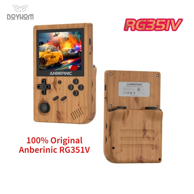 ANBERNIC New RG351V Retro Games Built-in 16G RK3326 Open Source 3.5 INCH 640*480 handheld game console Emulator For PS1 kid Gift