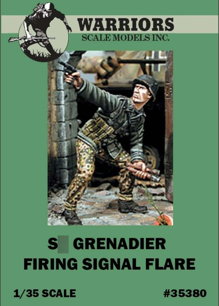 1/35 German Grenadier Firing Signal Flare - Resin Figure Kits 1pc WARRIORS #35380