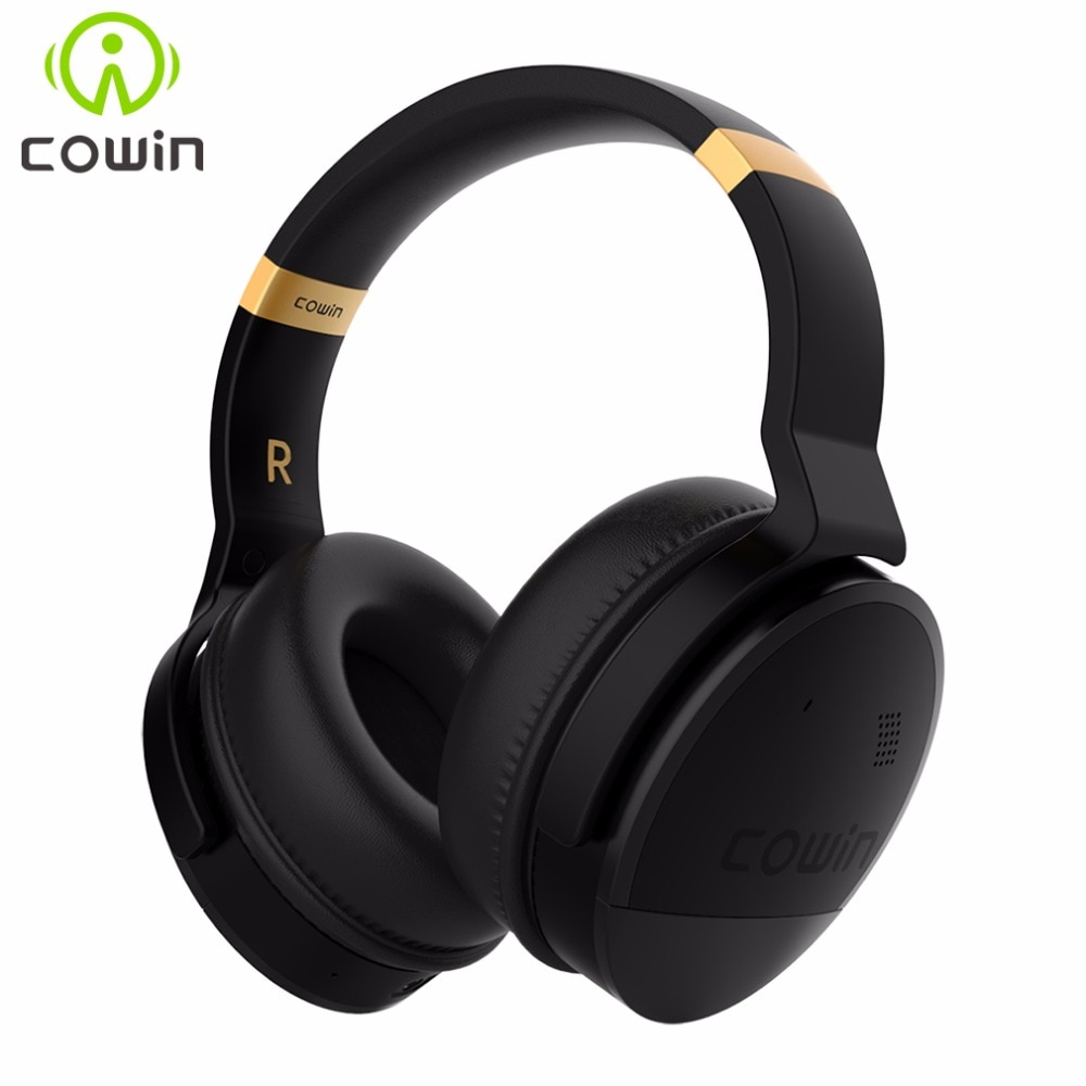COWIN-سماعة رأس لاسلكية E8 مزودة بتقنية البلوتوث وجهاز إلغاء الضوضاء النشط وصوت ستيريو عالي الدقة وباس عميق