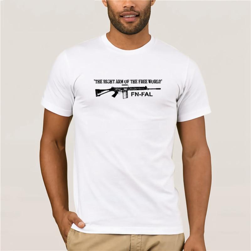 Camiseta de moda 100% de algodón para hombre, informal, calle, brazo derecho del mundo libre, 308, Nato, británico, L1A1, Rifle, camiseta a la moda para hombre