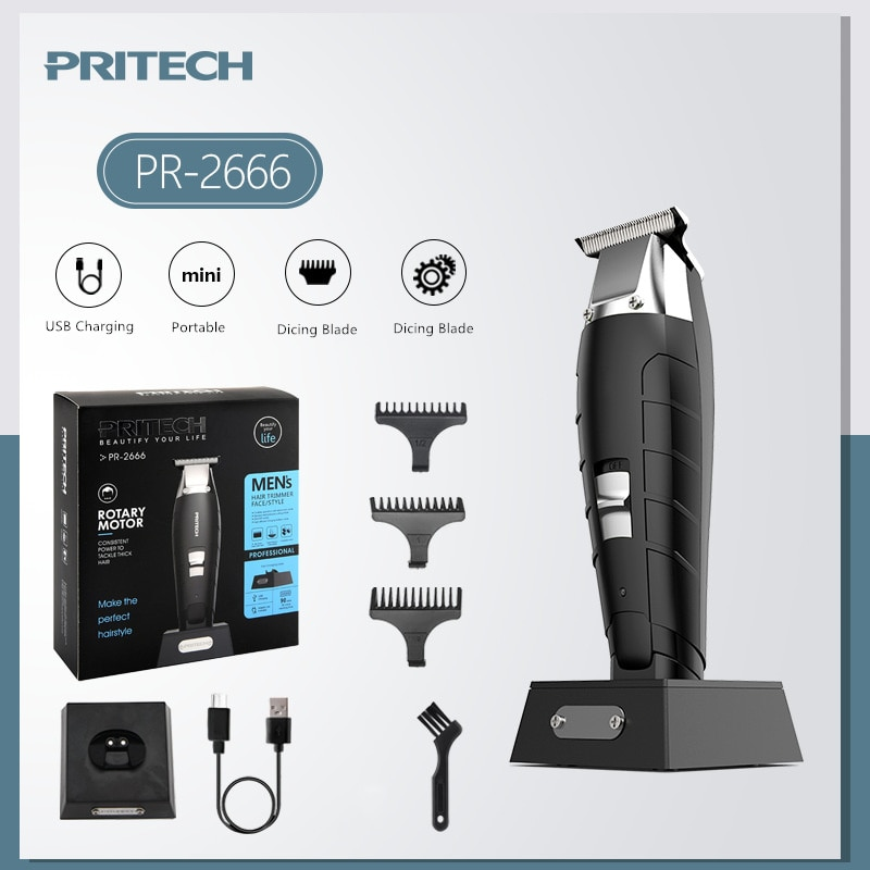 Pritech Electric Hair Clipper for Men Professional Hair Salon Trimmer Razor Hair Cutting Machine Barber Clippers Recharge enlarge
