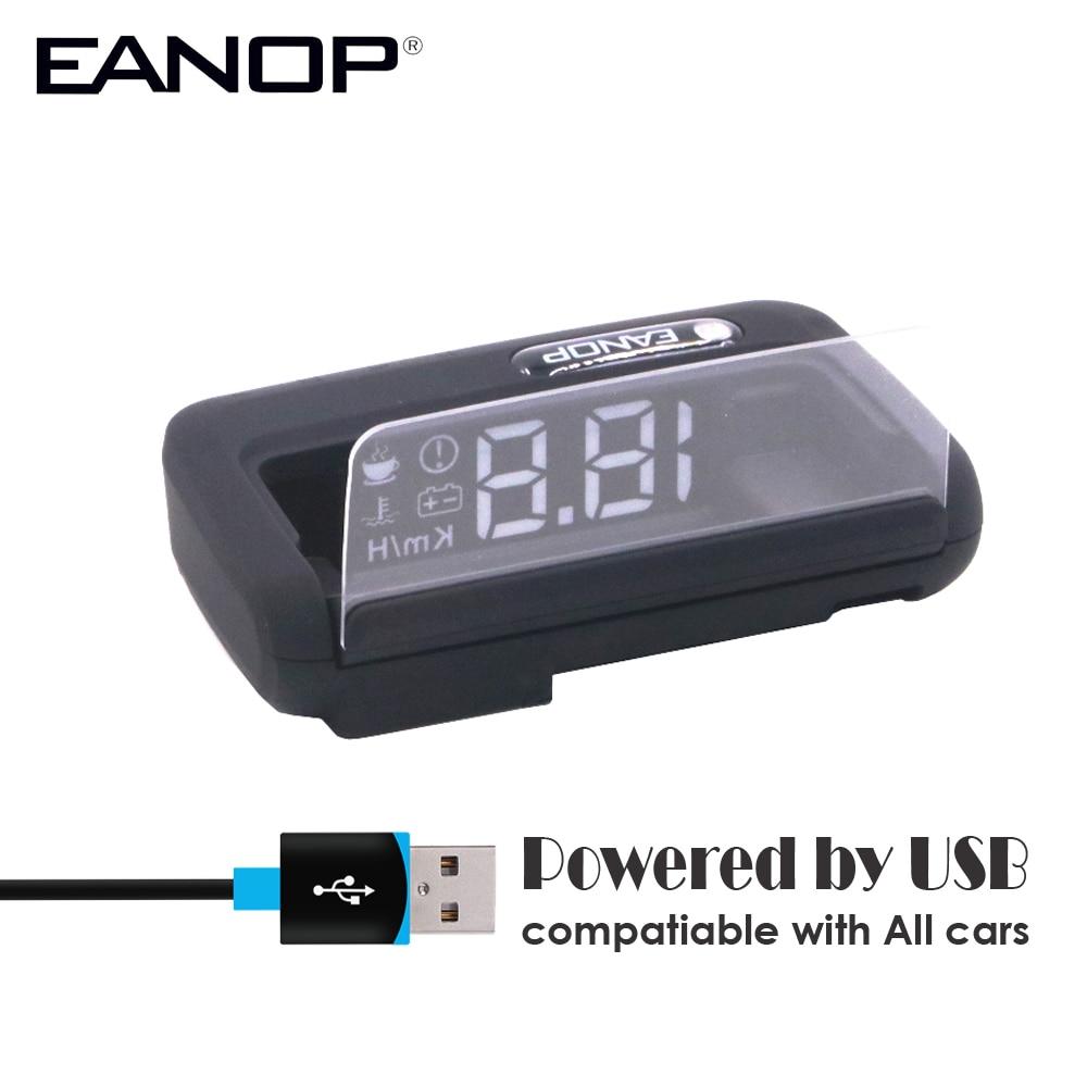 EANOP Spiegel GPS HUD Head-up display Auto Geschwindigkeit Projektor Auto Tacho KMH/KPM Compatiable mit Alle autos, lkw Fahrzeug