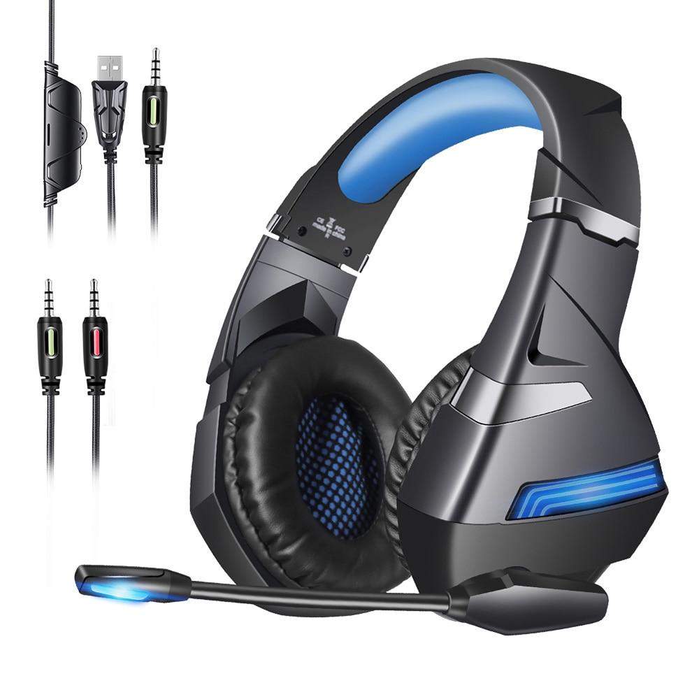 2020 nouveau casque de jeu A2 HiFi stéréo 7.1 surround virtuel basse casque de jeu avec microphone lumière LED, adapté pour PCgamers