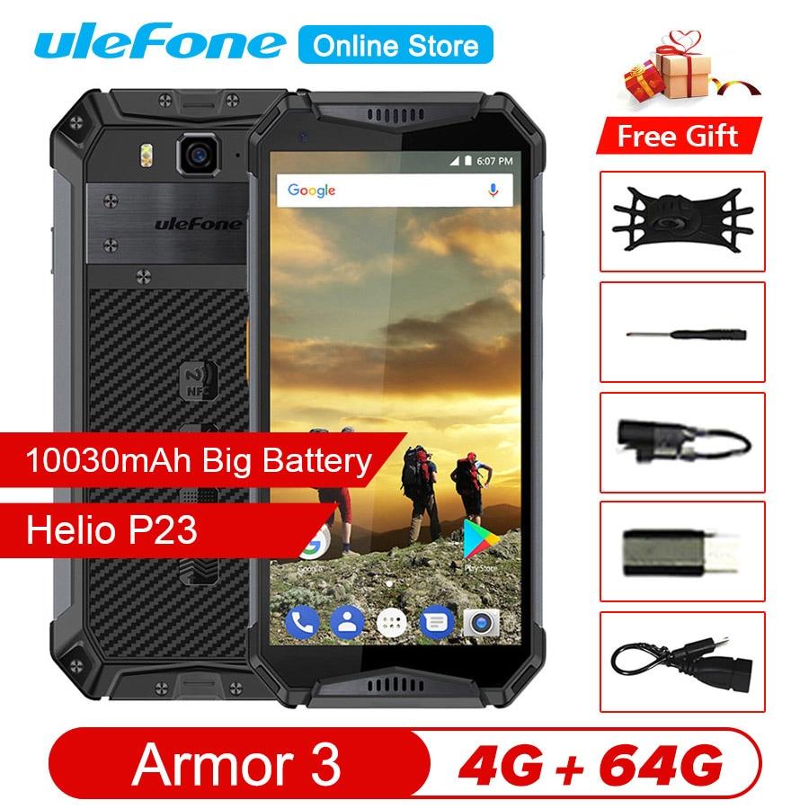 "Ulefone armadura 3 IP68 impermeable helio P23 teléfono móvil Android 8,1 de 5,7 ""FHD + Octa Core 4GB + 64GB 21MP 10030mAh Global Smartphone"