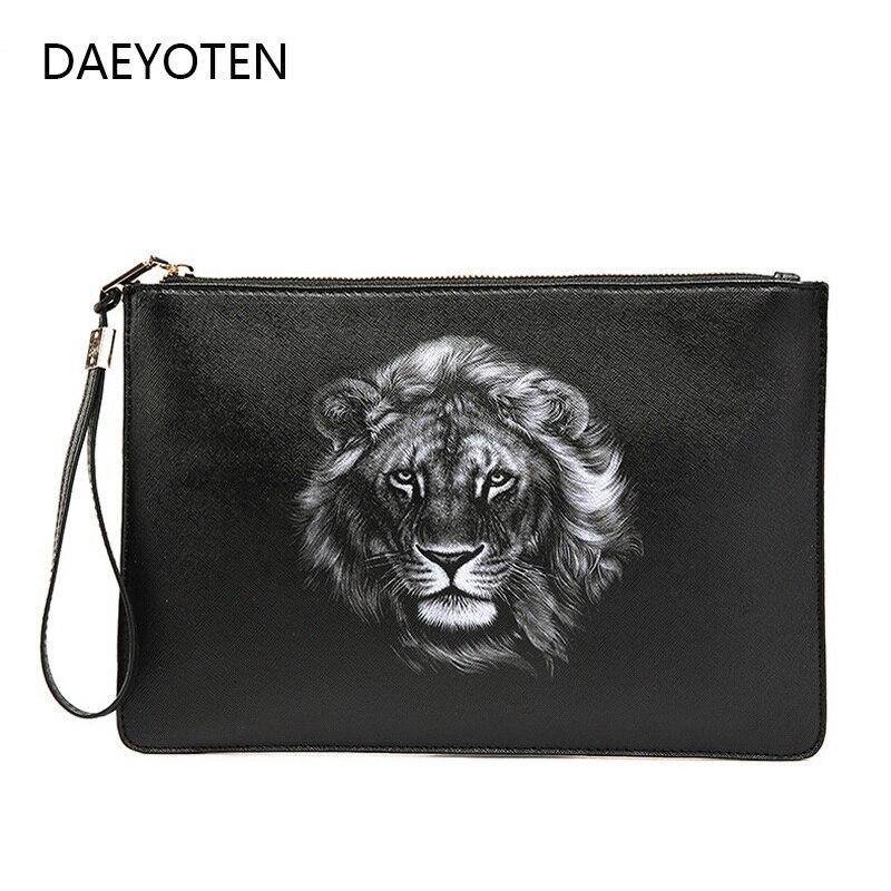 Bolso de mano con estampado de León DAEYOTEN, bolso de mano para mujer y diseñador de carteras, bolso de mano A la moda para pareja, bolso de mano para mujer ZM0417
