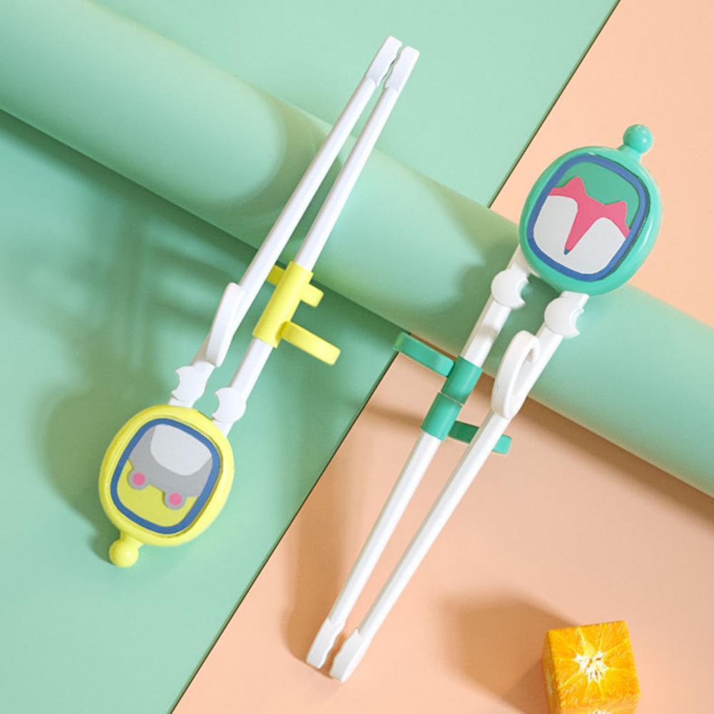 Палочки для еды для малышей, 1 комплект, нескользящая ручка, удобная ручка, не содержит Бисфенол А, детское питание, детские принадлежности