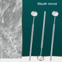 1pc 16cm dental mouth mirror stainless steel dental mirror teeth mirrors for household teeth mouth endoscope oral care tools