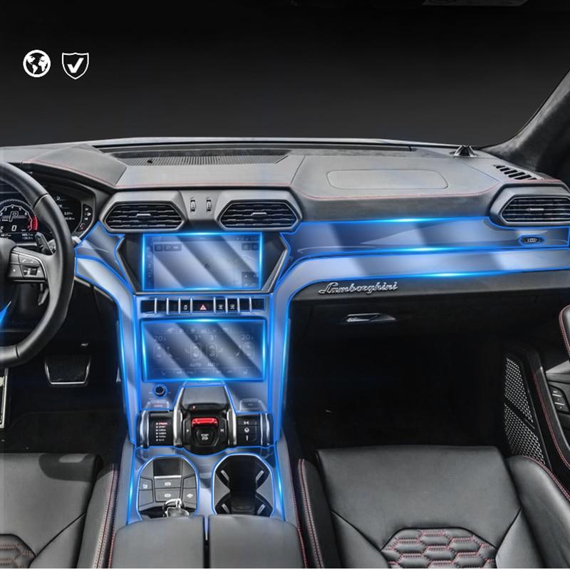 For Automobili Lamborghini S.p.A Urus 2018 TPU Scratch-Resistant Elastic Sticker Car Dashboard Navigation Screen Protective Film enlarge