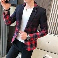 2021 new style premium color scheme for men slim fit business plaid blazersmale fashion leisure suit coat plaid jackets s 3xl